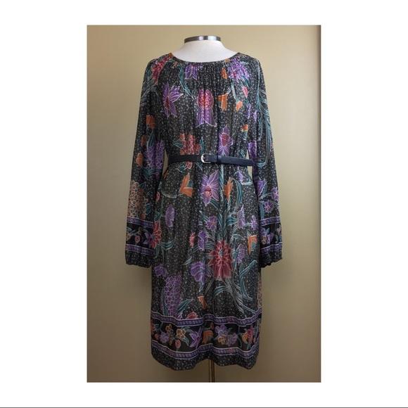 Vintage Dresses   Sheer Boho Midi Dress Plus Size Floral   Poshmark